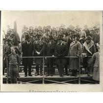 1929 Press Photo New York Officials on viewing stand during Army Day Parade NYC