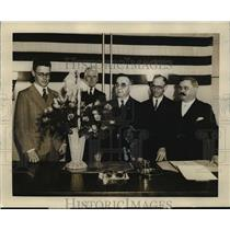 1931 Press Photo RC Ford, Judge Charles Aarons, JJ Tyson & AA Domachowski