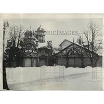 1929 Press Photo Heavy Snow at Amusement Place in Vienna, Austria - mja03976
