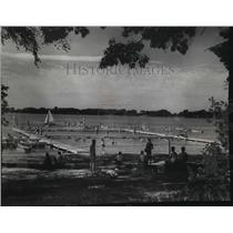 1966 Press Photo Scouts learning swimming at Indian Mound Reservation