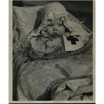 1934 Press Photo Meri Beth Bird, youngest member of county Red Cross - mja15911