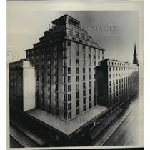 1934 Press Photo Hochhaus, Vienna's tallest Skyscraper - mja05433