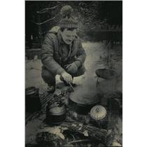 1984 Press Photo Gary Caruso at Camp Journal at Highway 81 - mja09516