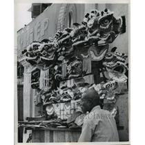 1959 Press Photo Dragon heads used in Dragon Dance for sale for Tet Festival