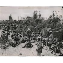 1935 Press Photo Ethiopian soldiers encamped in Odaden on trail of Italians