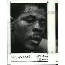 1985 Press Photo Patrick Ewing New York Knicks Rookie - orc16686