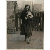 1932 Press Photo New York Frances Dana Hyde arrives at Mayfair Yacht Club NYC