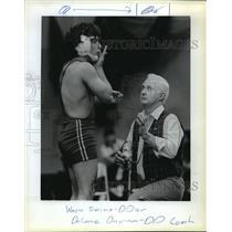 1983 Press Photo Wayne Trosine and DeLanie Duncan, Wrestling - orc16720