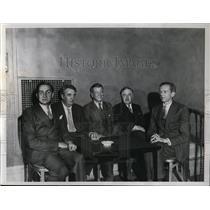 1934 Press Photo New York Harold S, Vanderbilt cup for contract bridge teams NYC