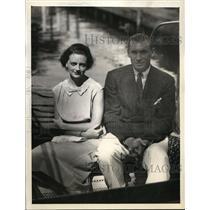 1934 Press Photo New York Helena W. McCann, Frederick W.C. Guest engaged NYC