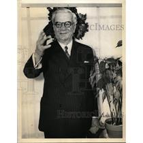 1937 Press Photo Gerardo Machado of Cuba Press Conference  - nee99493