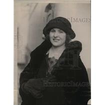 1923 Press Photo Peggy Rush is the Vicountess Dunsford arrived in New York
