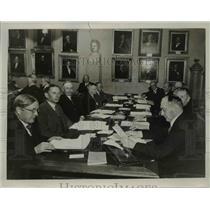 1934 Press Photo Council Members of Karolinska Institutet, Stockholm, Sweden