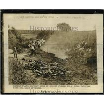 1941 Press Photo German Plane Is Downed By Soviets - nef01743