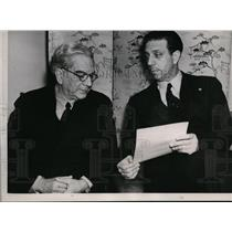 1937 Press Photo Cuban Leader Gerardo Machado, Secretary Fernando Villapol