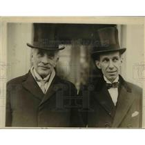 1909 Press Photo Sir Robert Bordon & Vincent Massey at White House - nef03638
