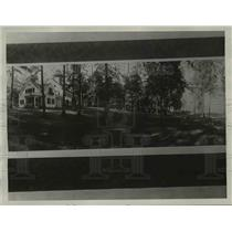 1928 Press Photo The Homer Summer Residence on Lake George New York  - nee95631