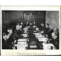 1942 Press Photo Rear Admiral W.R. Patterson, in US & British Chiefs Meeting