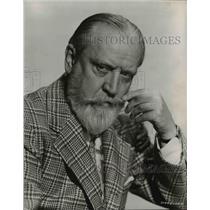 "1957 Press Photo Monty Woolley Stars in ""Holy Matrimony"" in KPTV Movie"