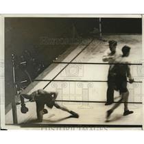 1931 Press Photo Boxer William Marrone beat Pat Lewis, AAU Championships