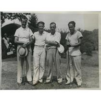 1935 Press Photo Dave Mitchell, Albert Campbell, George Lance, Arthur Armstrong
