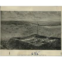1927 Press Photo Edward Buyok Painting of For Stanwix - mjx01920