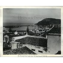 1941 Press Photo Horta, Chief Port of the Portugese-Owned Azores - mjx01905