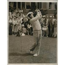 1936 Press Photo Paul Runyan during first round, National Open Golf Championship