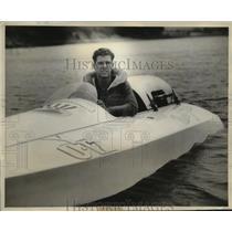 1935 Press Photo R. Stanley Dollar Jr enters Spreckels speedboat Trophy Race
