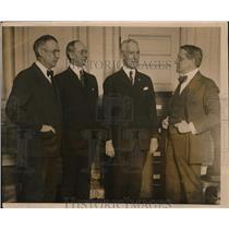 1920 Press Photo Leaders of the Leonard Woof Presidential Committee meet