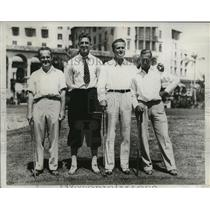 1933 Press Photo Finalists during Miami Biltmore Four Ball Golf Tournament