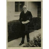 1932 Press Photo Leon Barrick elected Coroner of Salem OR - nef03357