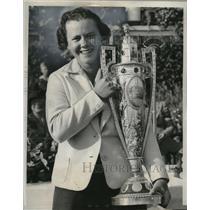1938 Press Photo Golfer Patty Berg wins National Women's Golf Meet, Chicago