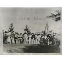 1934 Press Photo Golfer Maureen Orcutt beats Helen Hicks in Miami Biltmore Open