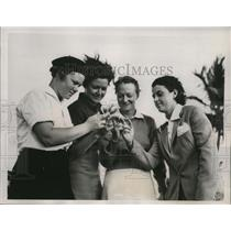 1938 Press Photo Golfers Patty Berg, Kathryn Hemphill, Jane C. Jameson, D. Kirby