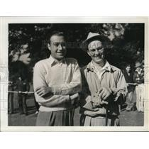 1938 Press Photo Willie Turnsea, Edwin Kingsley at National Amateur golf in PA