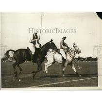 1926 Press Photo SW Van Meter at polo of US Military Academy vs Penn Military