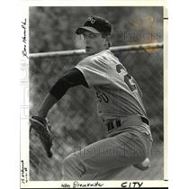 1988 Press Photo Ken Brauckmiller, senior pitcher for Portland State University