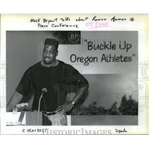 1990 Press Photo Trail Blazer Mark Bryant - orc14623