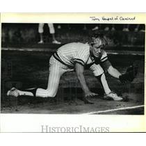 1980 Press Photo Cleveland Senior Terry Heupel -Pitcher - orc14701