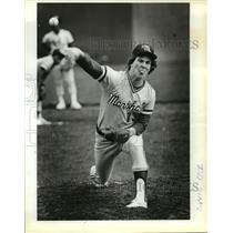 1984 Press Photo David Rose Marshall Baseball Player - orc15529