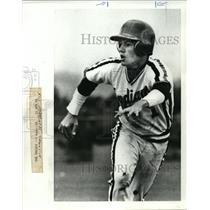1986 Press Photo Jon Colasuonno, Dalles junior second baseman. - orc14732