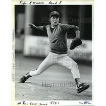 1987 Press Photo Bend Hurler Rich Ekman - orc14746