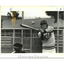 1985 Press Photo Rob Hartley hottest hitting Clark College player - orc14616