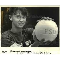 1984 Press Photo Theresa Huitinga-Portland State Regional Volleyball - orc11800