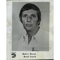 1977 Press Photo Hubie Brown, Head Coach Atlanta Hawks - orc15371