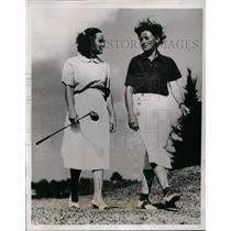 1938 Press Photo Frances Owen, Marion Miley at Mid Florida Women's golf