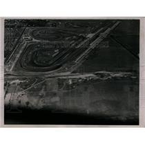 1936 Press Photo Roosevelt Raceway seen in aerial view for Vanderbilt Cup race