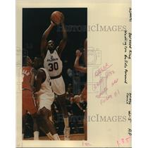1991 Press Photo Bernard King, Washington Bullets forward - orc15047