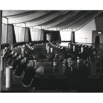 1965 Press Photo Waiting Passengers & Visitors Comfortable Seats Spokane Airport